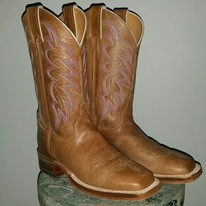 Justin yancy sq toe boots